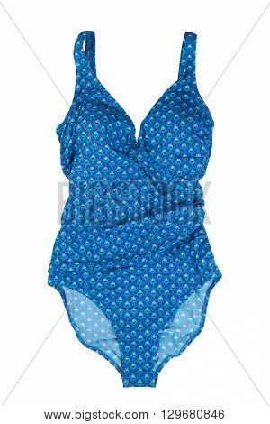 Blue swimsuit fused. Isolate on white. underpants