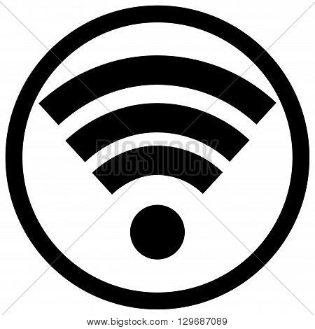 Wifi icon black white. Wifi icon and wireless free wifi internet and wifi symbol wifi zone and connect wifi signal. Vector flat design illustration