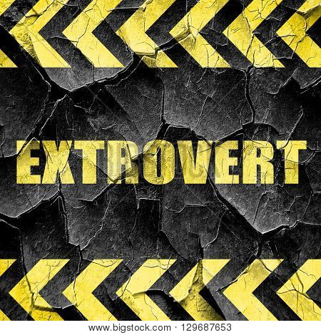 extrovert, black and yellow rough hazard stripes