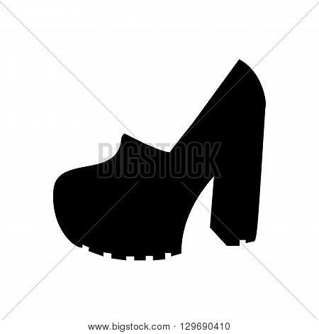 High heels shoes illustration. Woman shoes. Vector illustration