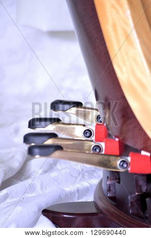 Pedals Of A Pedal Harp