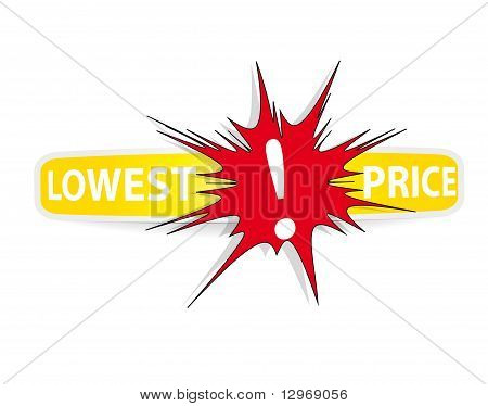 Lowest Price Sticker. Vector.
