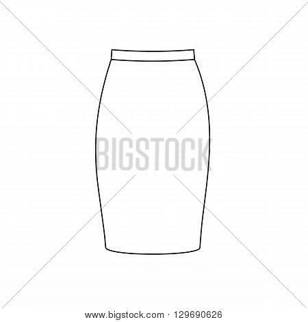 Skirt vector illustration. Long skirt. Tube skirt. Vector illustration