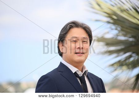 Park Chan-Wook attends 'The Handmaiden (Mademoiselle)' photocall during the 69th annual Cannes Film Festival at the Palais des Festivals on May 14, 2016 in Cannes, France.