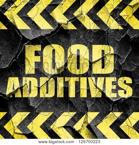 food additives, black and yellow rough hazard stripes