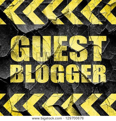 guest blogger, black and yellow rough hazard stripes