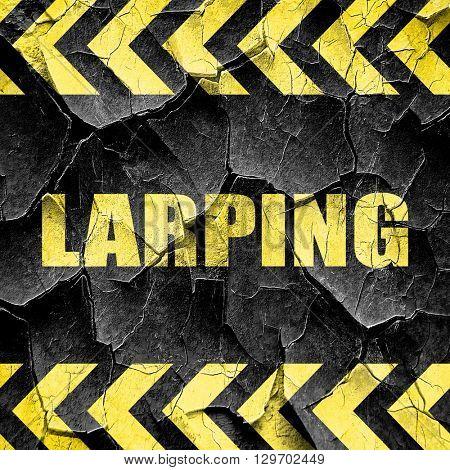 larping, black and yellow rough hazard stripes