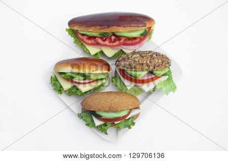 Yummy and delicious looking sandwich, worthy of a full mouth