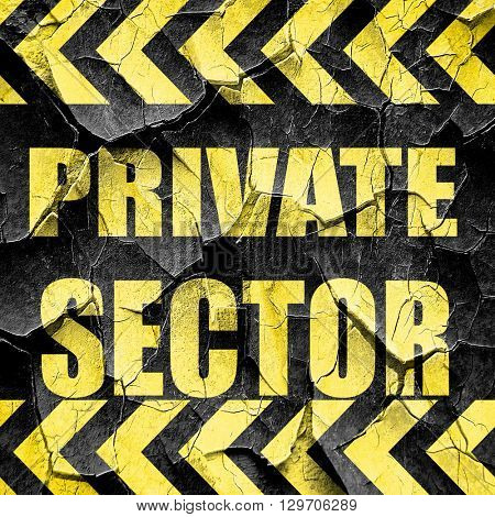 private sector, black and yellow rough hazard stripes