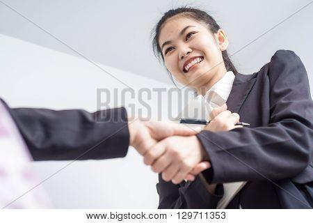 Women Business People Shaking Hands