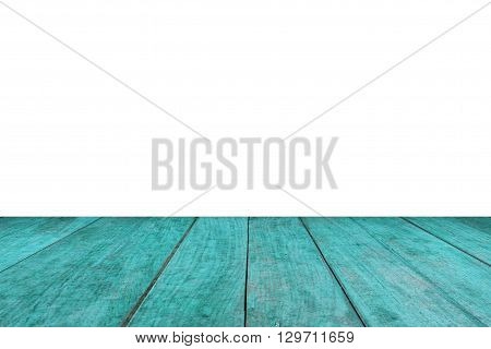 Perspective green wood on white background, stock photo