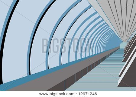 bridge way. vector