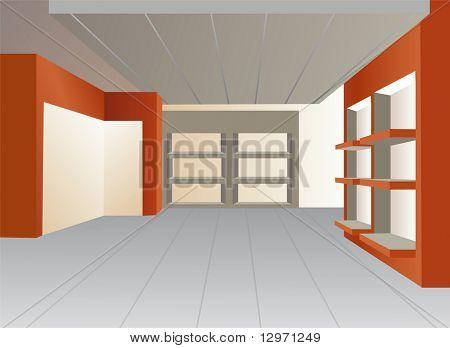 shop vitrine vector