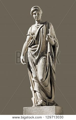 Ancient Hera Sculpture. Hera (identified with Juno by the Romans) is the Olympian Goddess of Marriage protector of family and married women. Hera is the wife of Zeus the king of Gods.