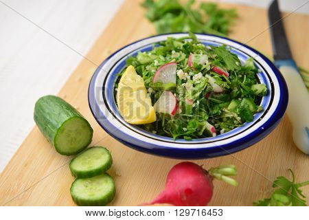 Tabouleh salad - a middle eastern food and recipes.