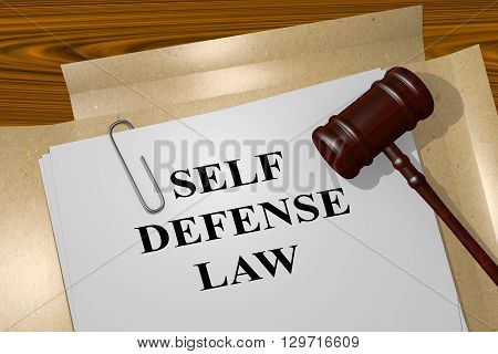 Self Defense Law Legal Concept