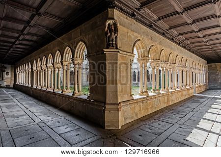 Cloister of the S. Bento monastery in Santo Tirso, Portugal. Benedictine order. Built in the Gothic (cloister) and Baroque (church) style.
