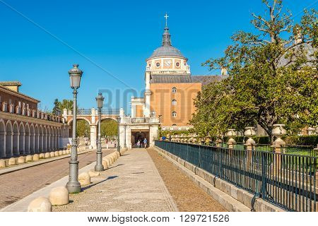 ARANJUEZ,SPAIN - APRIL 24,2016 - In the streets of Royal City Aranjuez .Aranjuez is a town and municipality lying 42 kilometres (26 mi) south of Madrid.