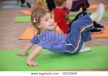 girl is engaged in gymnastics 3