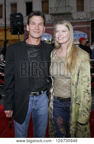 Patrick Swayze and Lisa Niemi at the Los Angeles Fan Screening of