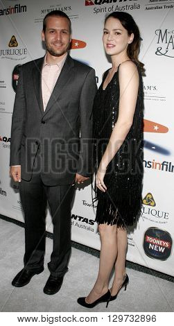 Jacinda Barrett and Gabriel Macht at the Australians In Film 2006 Breakthrough Awards held at the Avalon Hotel in Beverly Hills, USA on May 11, 2006.