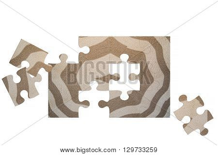 Background image Puzzelc of a hand-woven carpet with ancient ornament.