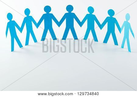 Paper People Forms A Semi Circle