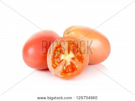 Cherry Tomatoes Isolated On The White Background