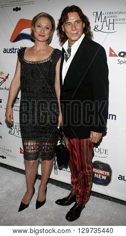 Caroline Goodall and George Blodwell at the Australians In Film 2006 Breakthrough Awards held at the Avalon Hotel in Beverly Hills, USA on May 11, 2006.