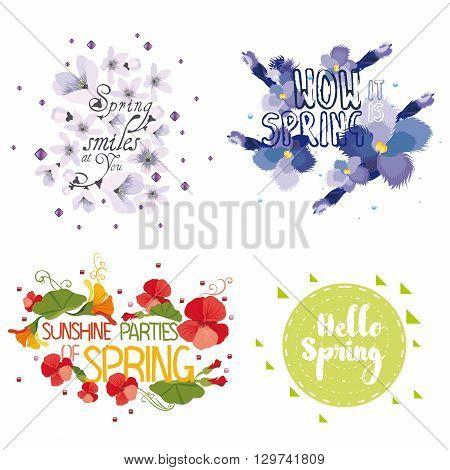 Four mnemonics on the concept of Spring season