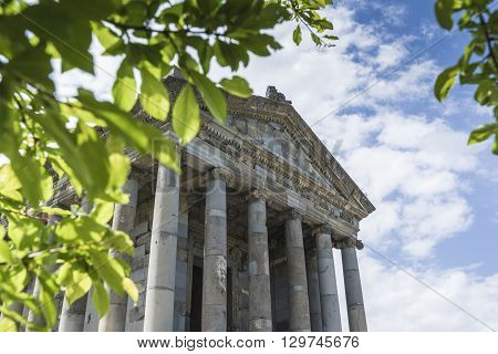 Ancient Garni pagan Temple the hellenistic temple in Armenia poster