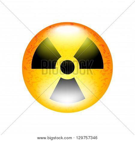 Radioactive symbol isolated on white vector illustration