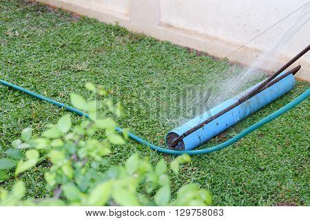 Backyard, Tool Of Yard Work Planting A New Sod Grass In Garden