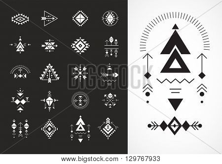Esoteric, Alchemy, sacred geometry, tribal and Aztec, sacred geometry, mystic shapes, symbols poster