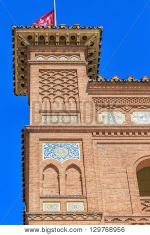 Detail Of Bullring Of Las Ventas In Madrid, Spain.