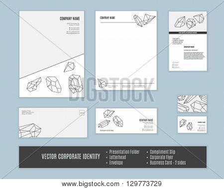 Corporate identity templates. Corporate identity design. Set of corporate identity. Classic stationery template design. Business stationary set. Corporate identity mock ups. Vector corporate identity.