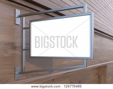 White Stopper Dark Wooden Building