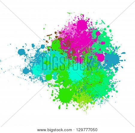 spot image on a colored background . illustrations .