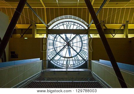 Paris France - October 6 2009: The clock of the D'Orsay museum.