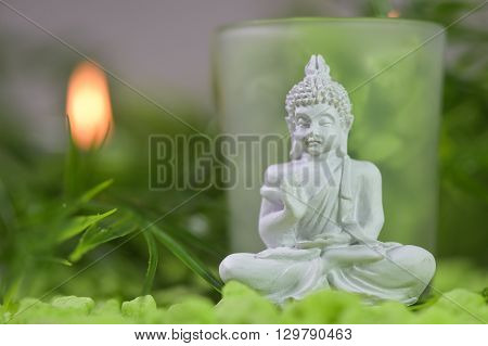 Candles And  Boudha Religion