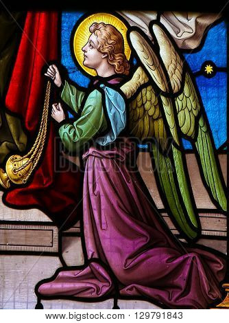 Stained Glass Of An Angel