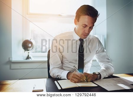 Executive Business Man Working At Office