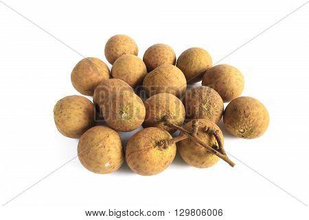 Longa , Asian fruit isolated with white background