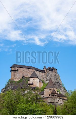 The Famous Orava Castle in Slovakia. The Orava Castle is the one of the most beautiful castle in Slovakia.