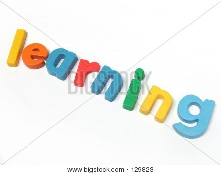 abc fridge magnet letters spell out the word learning poster