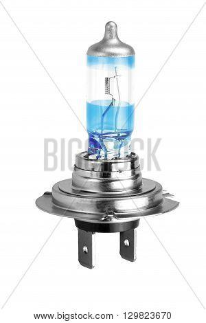 Single H7 High Power Car Head Light Bulb White Isolated