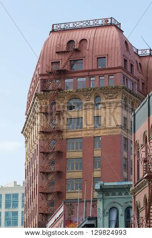 The Dominion building in Vancouver took four years to build and was completed in 1910.  It sits in the Gastown area of Vancouver.