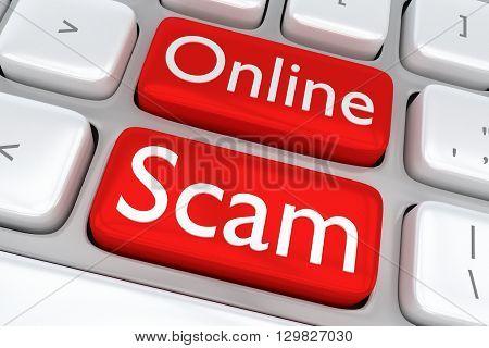 Online Scam Concept