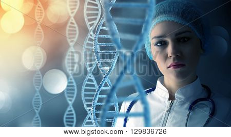 Woman science technologist in laboratory