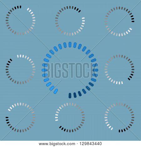 Round preloader animation frame, buffer shape, circular progress indicator